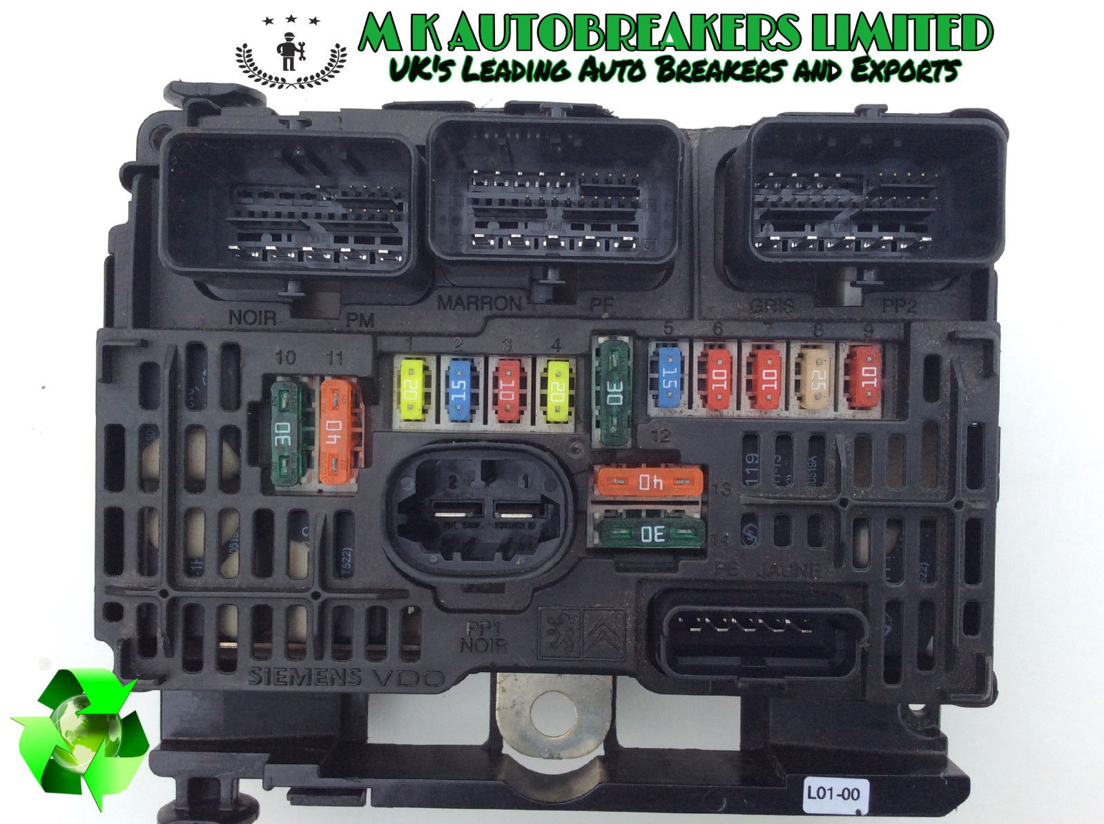 Peugeot 1007 From 05 09 Engine Bay Fuse Box Bsm Breaking For Spare Part Parts Mk Autobreakers Ltd
